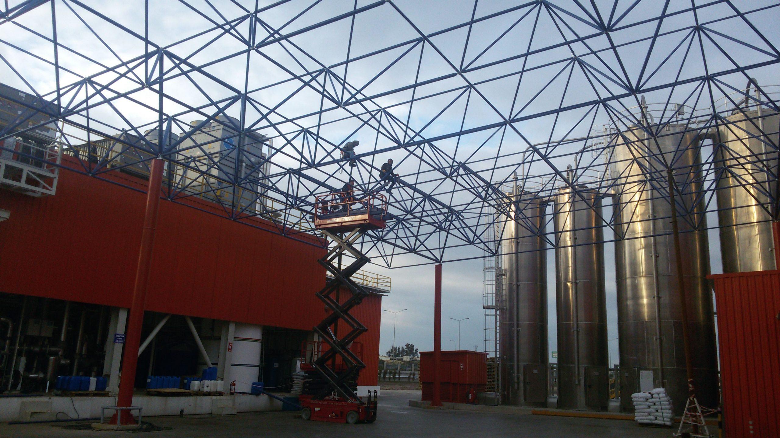 çelik konstrüksiyon çatı fiyatları