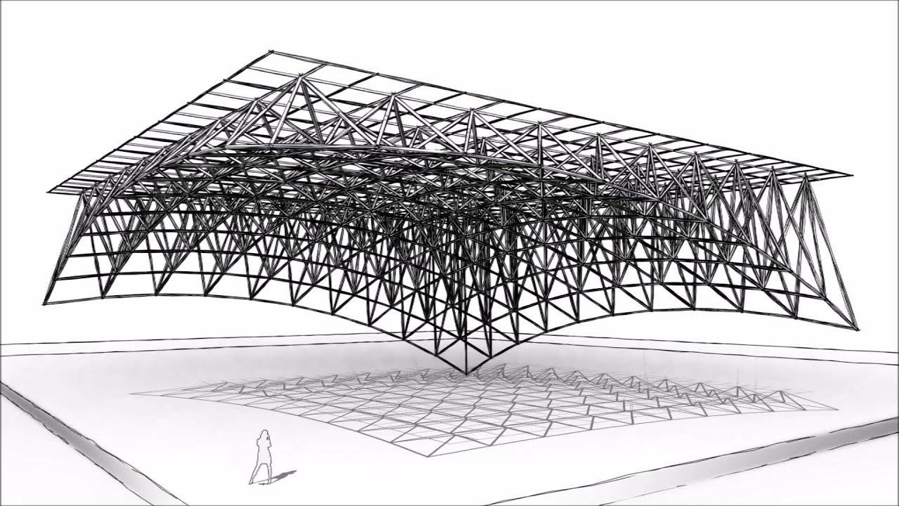 uzay kafes yapıların tasarımı projelendirilmesi