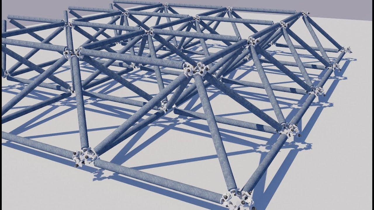 Düz uzay çatı modeli
